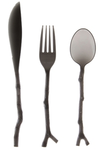 Translucent Black Twig Cutlery Set - $5.95